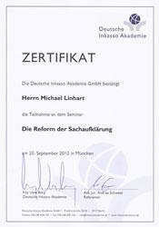 Inkasso Gumbert Deutsche Inkasso Akademie Zertifikat Die Reform der Sachaufklärung